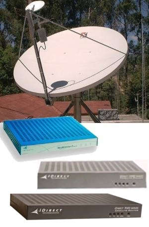 satellite internet acces iDirect